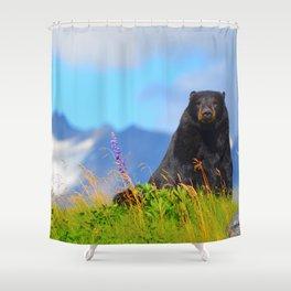 Alaskan Black Bear Shower Curtain