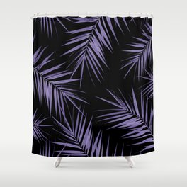 Palm Leaves Cali Finesse #5 #UltraViolet #Black #tropical #decor #art #society6 Shower Curtain