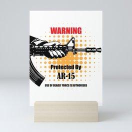 Warning words private area Mini Art Print