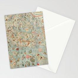 Carta marina (Marine Map) by Olaus Magnus, 1539 Stationery Cards