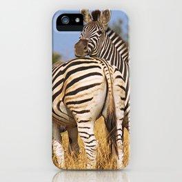 Life of the Zebras, Africa wildlife iPhone Case