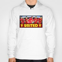 manchester Hoodies featuring Manchester Football Club by Sport_Designs