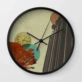 Faux punk fatigue Wall Clock