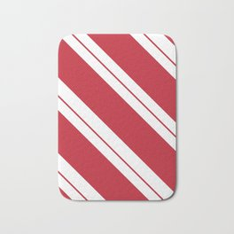 Tilted Classic Red Candy Cane Bath Mat