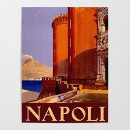 Napoli - Naples Italy Vintage Travel Poster