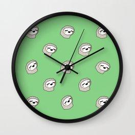 Sloth Party! Wall Clock