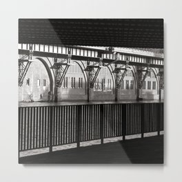 Jannowitzbruecke - Berlin - B&W Metal Print