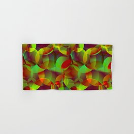 Vector abstract seamless background from space yellow and green bright circles and bubbles for fabri Hand & Bath Towel