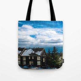 Winter Landscape - Hidden Valley Chalets Tote Bag