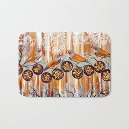 Zebra Finches Bath Mat