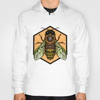 bee Hoodies featuring Bee by Graham Diehl