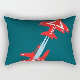 Red Arrows  Rectangular Pillow