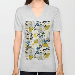Flowers patten1 Unisex V-Neck