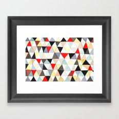 Geometric Pattern Watercolor & Pencil Robayre Framed Art Print