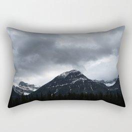 Mountains in Jasper Landscape Minimalism Photography Rectangular Pillow