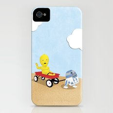 SW Kids - C3PO & R2D2 Red Wagon Slim Case iPhone (4, 4s)
