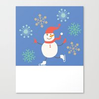 snowman Canvas Prints featuring Snowman by Mr & Mrs Quirynen