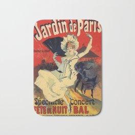 Jardin De Paris F Te De Nuit Bal 1896 By Jules Cheret   Reproduction Art Nouveau Bath Mat