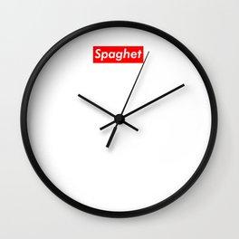 Spaghet Classic Mug Wall Clock