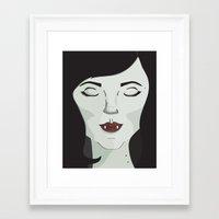 marceline Framed Art Prints featuring Marceline by Grace Elizabeth McConnell