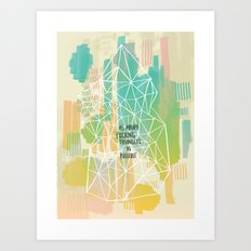 Imitation Flattery - As Many Flipping Triangles as Possible Art Print