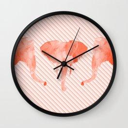 Red Friends Wall Clock