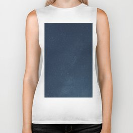 Night sky backgrounds with stars and clouds Biker Tank