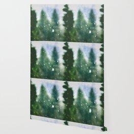 Winter Forest Flurries Wallpaper