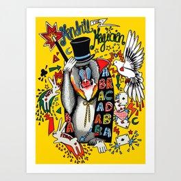 Mandrill the Magician Art Print