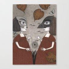Ana and Eva (An All Hallows' Eve Tale) Canvas Print