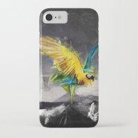 parrot iPhone & iPod Cases featuring Parrot by Elias Klingén