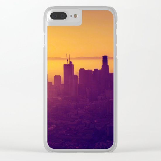 Los Angeles at Sunset Clear iPhone Case