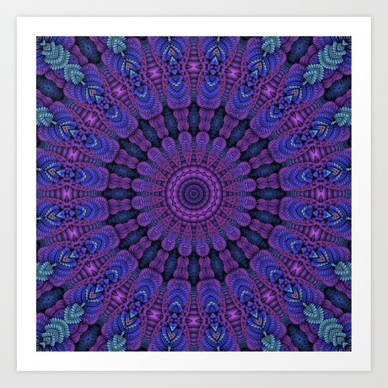 Purple Harmony Art Print
