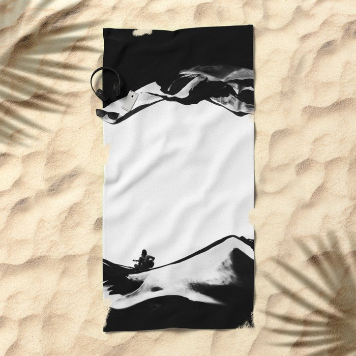 Song of isolation Beach Towel