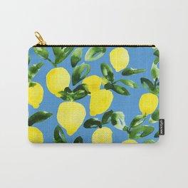 Blue Lemons Carry-All Pouch