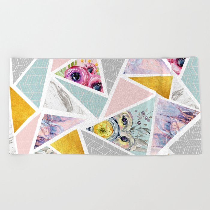 Mix geometric Beach Towel
