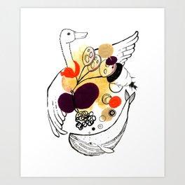 Goose Whale Art Print