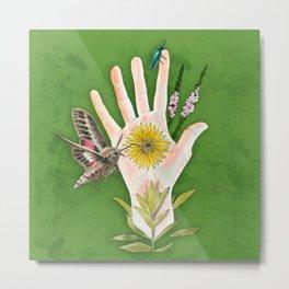 Prairie Hand 2 (Green) Metal Print