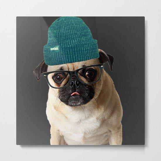 Pug Life ( Hipster ) Metal Print
