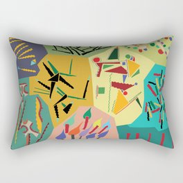 collage play Rectangular Pillow