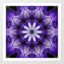 Glowing Violet Star - Iris Stepping Out Kaleidoscope by rvjdesigns