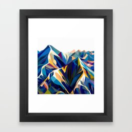 Mountains cold Framed Art Print