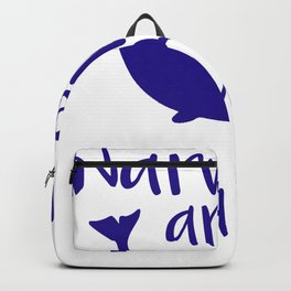 Narwhal Narwhals are born in March Backpack