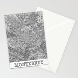 Monterrey Pencil City Map Stationery Cards