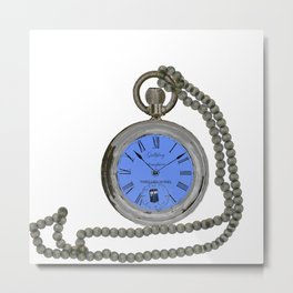 time lord pocket watch Metal Print