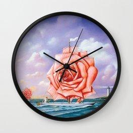 sail is love flower Wall Clock