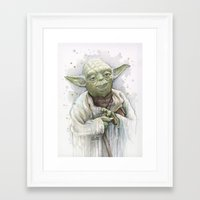 yoda Framed Art Prints featuring Yoda  by Olechka