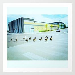 Shoppers On Parade Art Print