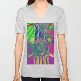 Clouds Mingle with Lines 1 Unisex V-Neck