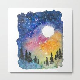 Boral Aurora Night Sky / Aurora Boreal Cielo Nocturno Metal Print